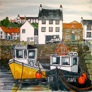 Crail Harbour Painting